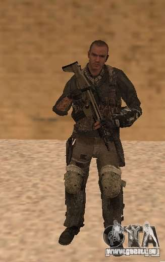 Yuri depuis Call of Duty : Modern Warfare 3 pour GTA San Andreas deuxième écran