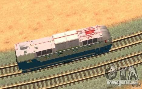 Lokomotiv ChS7-082 pour GTA San Andreas vue intérieure