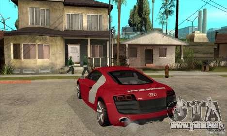 Audi R8 V10 für GTA San Andreas zurück linke Ansicht