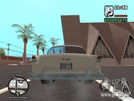 1955 Chevy Belair Sports Coupe pour GTA San Andreas vue arrière