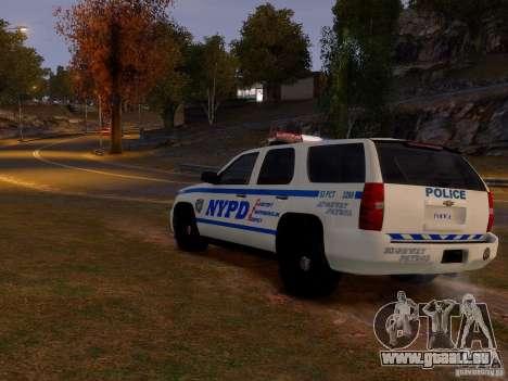Chevrolet Tahoe New York Police für GTA 4 rechte Ansicht