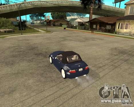BMW Z3 Roadster pour GTA San Andreas laissé vue