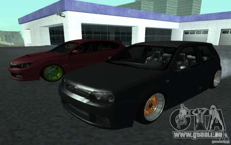 Volkswagen Golf pour GTA San Andreas sur la vue arrière gauche