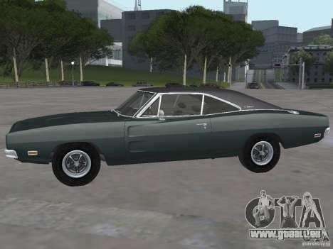 Dodge Charger 1969 für GTA San Andreas zurück linke Ansicht