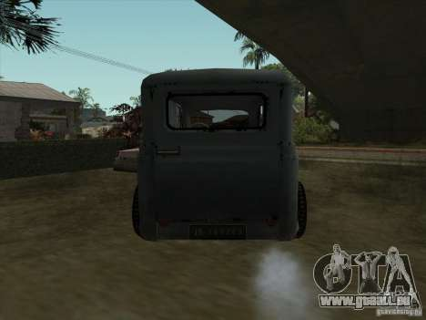 Le véhicule de la seconde guerre mondiale pour GTA San Andreas sur la vue arrière gauche