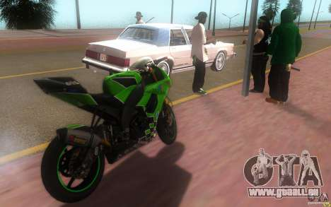 Kawasaki Zx 10-R II pour GTA San Andreas laissé vue