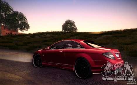 Mercedes Benz CL65 AMG pour GTA San Andreas laissé vue