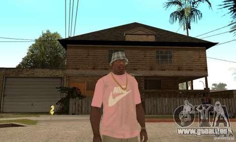 Pink Nike T-Shirt für GTA San Andreas