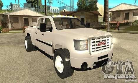 GMC 3500 HD Sierra Duramax Diesel 2010 pour GTA San Andreas vue arrière