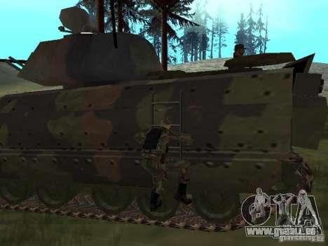 M2A3 Bradley pour GTA San Andreas vue arrière
