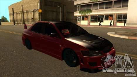 Mitsubishi Lancer Evo 8 Street Drift pour GTA San Andreas vue arrière