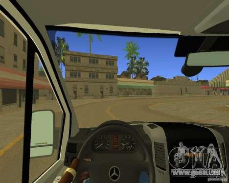 Mercedes Benz Sprinter NYPD police pour GTA San Andreas vue intérieure