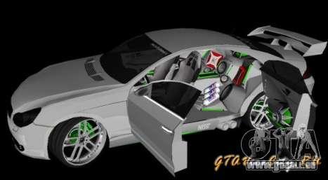 Mercedes-Benz CLS500 The GreenFairy TUNING pour GTA San Andreas sur la vue arrière gauche