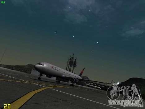 Boeing 767-400ER Delta Airlines pour GTA San Andreas laissé vue