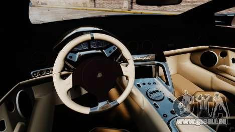 Lamborghini Reventon Roadster 2009 pour GTA 4 Vue arrière