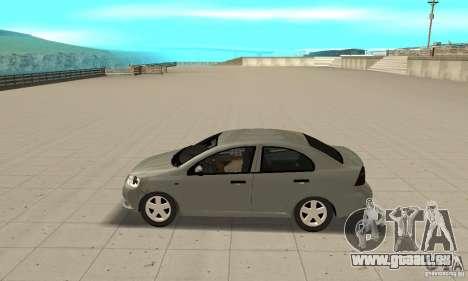 Chevrolet Aveo pour GTA San Andreas laissé vue