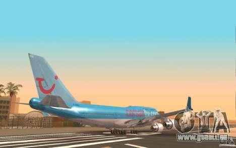 Boeing-747 Corsair Fly für GTA San Andreas zurück linke Ansicht