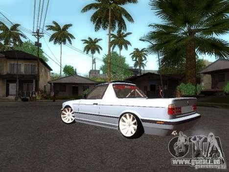 BMW E34 Pickup für GTA San Andreas zurück linke Ansicht