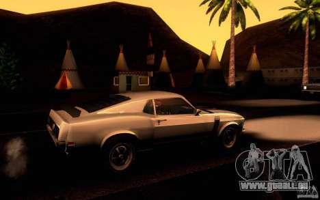 Ford Mustang Boss 302 pour GTA San Andreas vue de côté