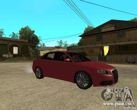 Audi S4 tunable pour GTA San Andreas vue de droite