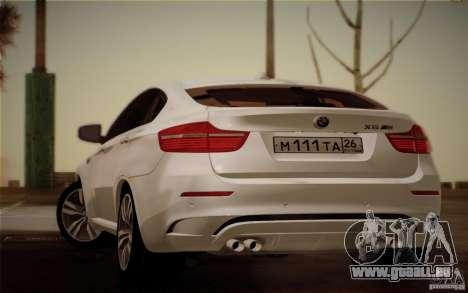 BMW X6M E71 pour GTA San Andreas laissé vue