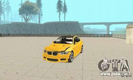 BMW M3 2008 pour GTA San Andreas vue de dessus