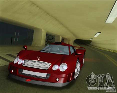 Mercedes-Benz CLK GTR Race Road Version Stock für GTA San Andreas obere Ansicht