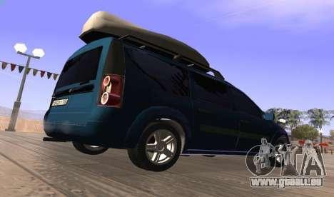 Lada Largus pour GTA San Andreas sur la vue arrière gauche