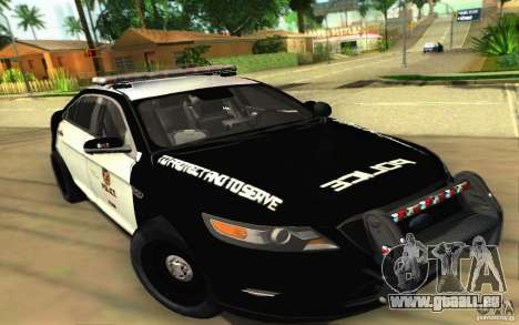 Ford Taurus 2011 LAPD Police pour GTA San Andreas