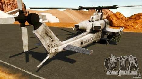 Bell AH-1Z Viper pour GTA 4 Vue arrière de la gauche