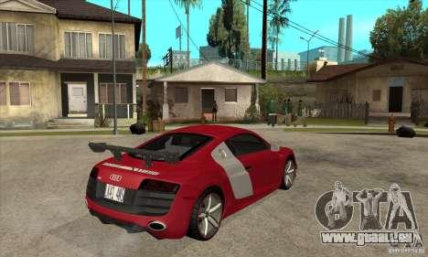 Audi R8 V10 v2 pour GTA San Andreas vue de droite