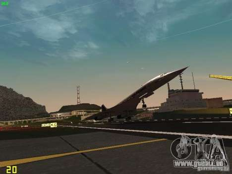 Aerospatiale-BAC Concorde Air France für GTA San Andreas Innenansicht