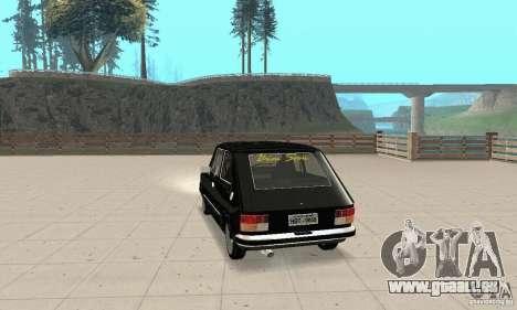 Fiat 147 Brio 1977 pour GTA San Andreas laissé vue