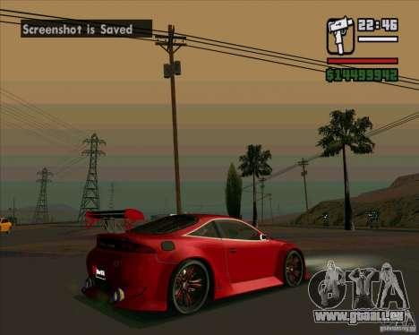 Mitsubishi Eclipse GS-T pour GTA San Andreas sur la vue arrière gauche