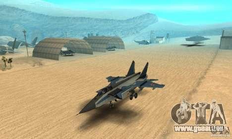 MiG-31 Foxhound für GTA San Andreas