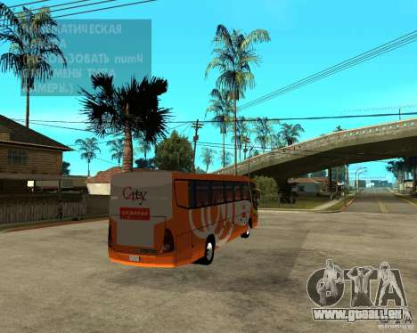 City Express Bus malaisien pour GTA San Andreas sur la vue arrière gauche