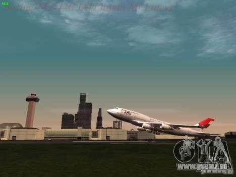 Boeing 747-446 Japan-Airlines für GTA San Andreas Seitenansicht