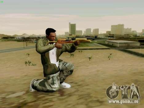 Une arbalète de travail avec des flèches pour GTA San Andreas quatrième écran