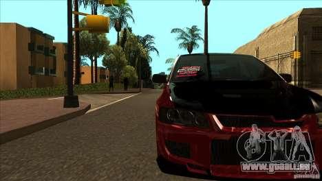 Mitsubishi Lancer Evo 8 Street Drift pour GTA San Andreas vue intérieure