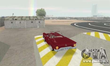 Ford Thunderbird 1957 pour GTA San Andreas sur la vue arrière gauche