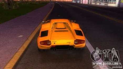 Lamborghini Countach pour une vue GTA Vice City de la droite