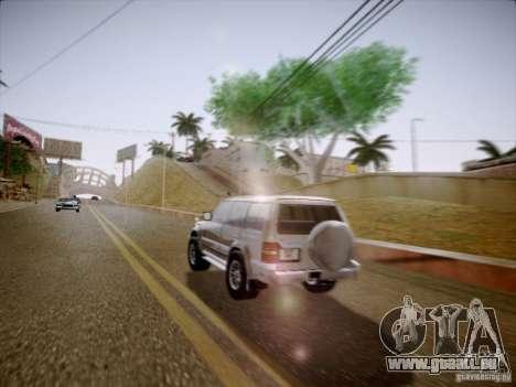 Mitsubishi Pajero für GTA San Andreas zurück linke Ansicht