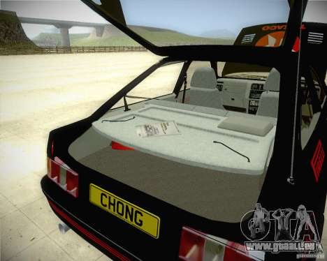 Ford Sierra RS500 Race Edition für GTA San Andreas Innenansicht