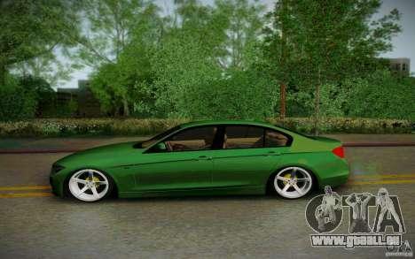 BMW 3 Series F30 Stanced 2012 für GTA San Andreas linke Ansicht