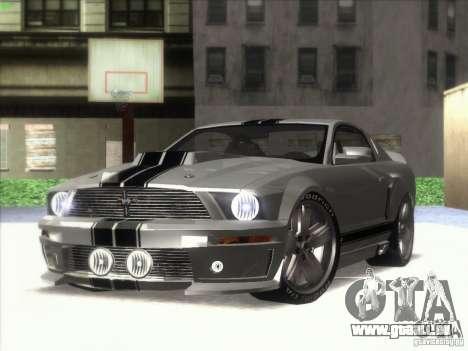 Ford Mustang Eleanor Prototype pour GTA San Andreas sur la vue arrière gauche