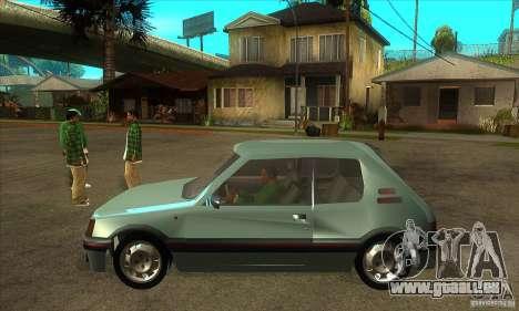 Peugeot 205 GTI v2 pour GTA San Andreas laissé vue