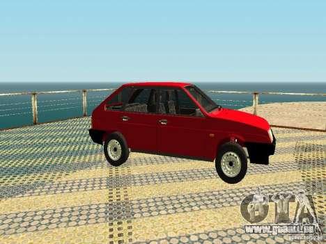 VAZ 2109 v2 pour GTA San Andreas sur la vue arrière gauche