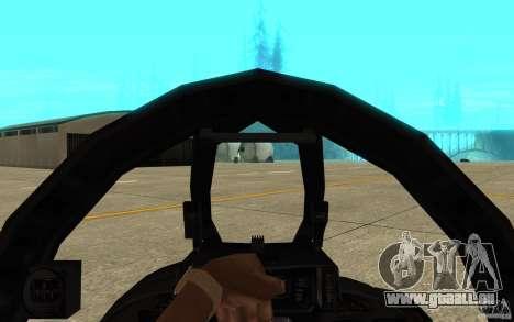 F-14 Tomcat Blue Camo Skin für GTA San Andreas Innenansicht