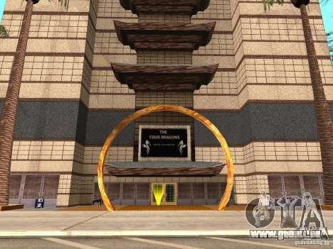Un nouveau type de Casino 4 Dragon pour GTA San Andreas deuxième écran