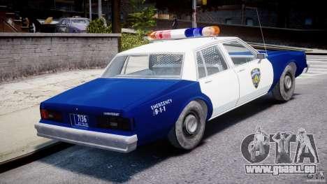 Chevrolet Impala Police 1983 pour GTA 4 vue de dessus